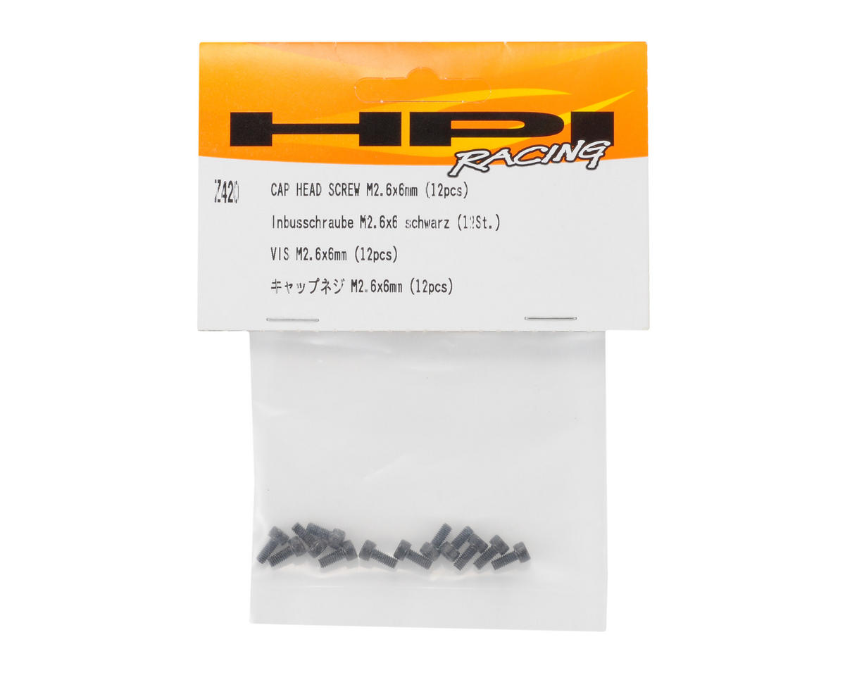 HPI 2.6x6mm Cap Head Hex Screw (12)