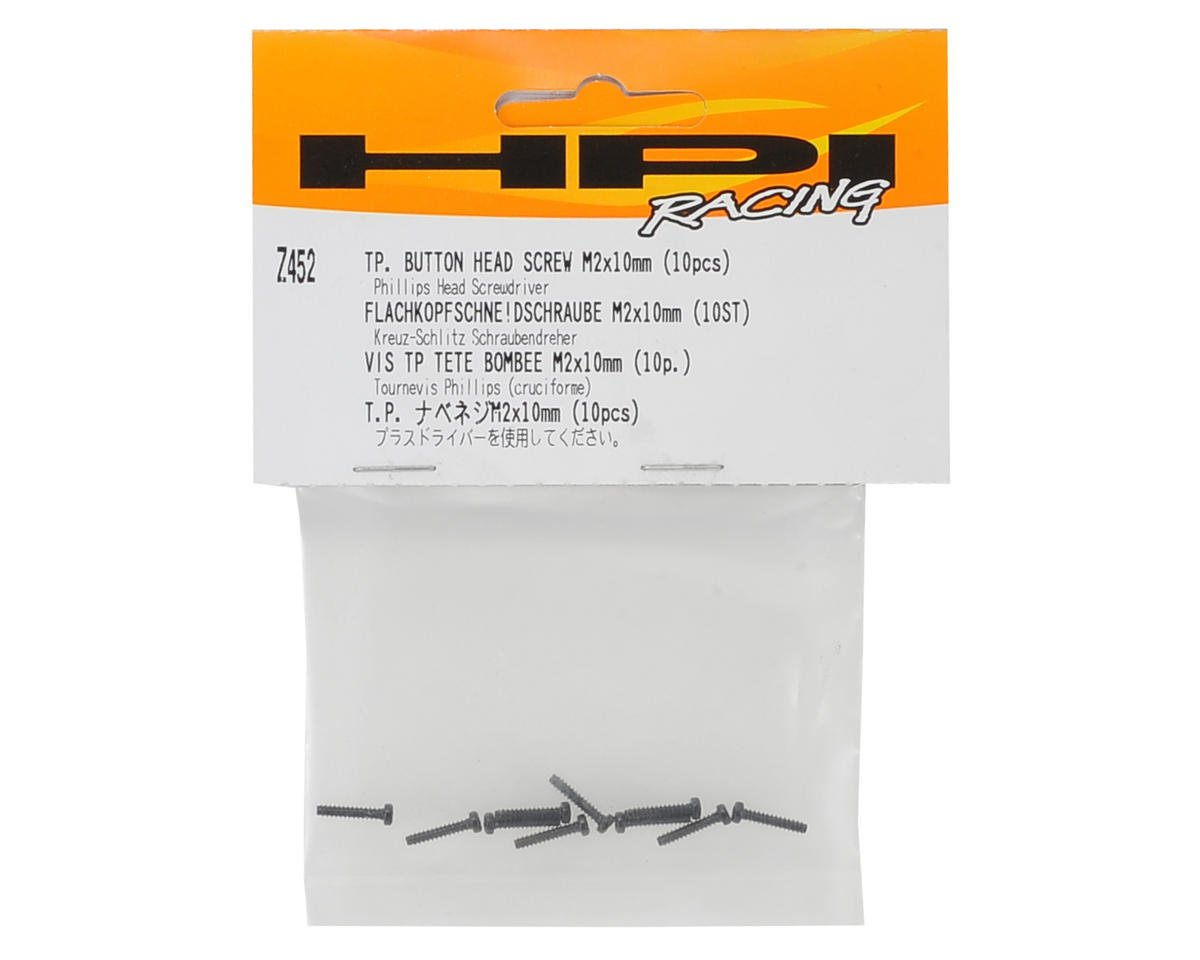 HPI Racing 2x10mm Self Tapping Button Head Phillips Screw (10)