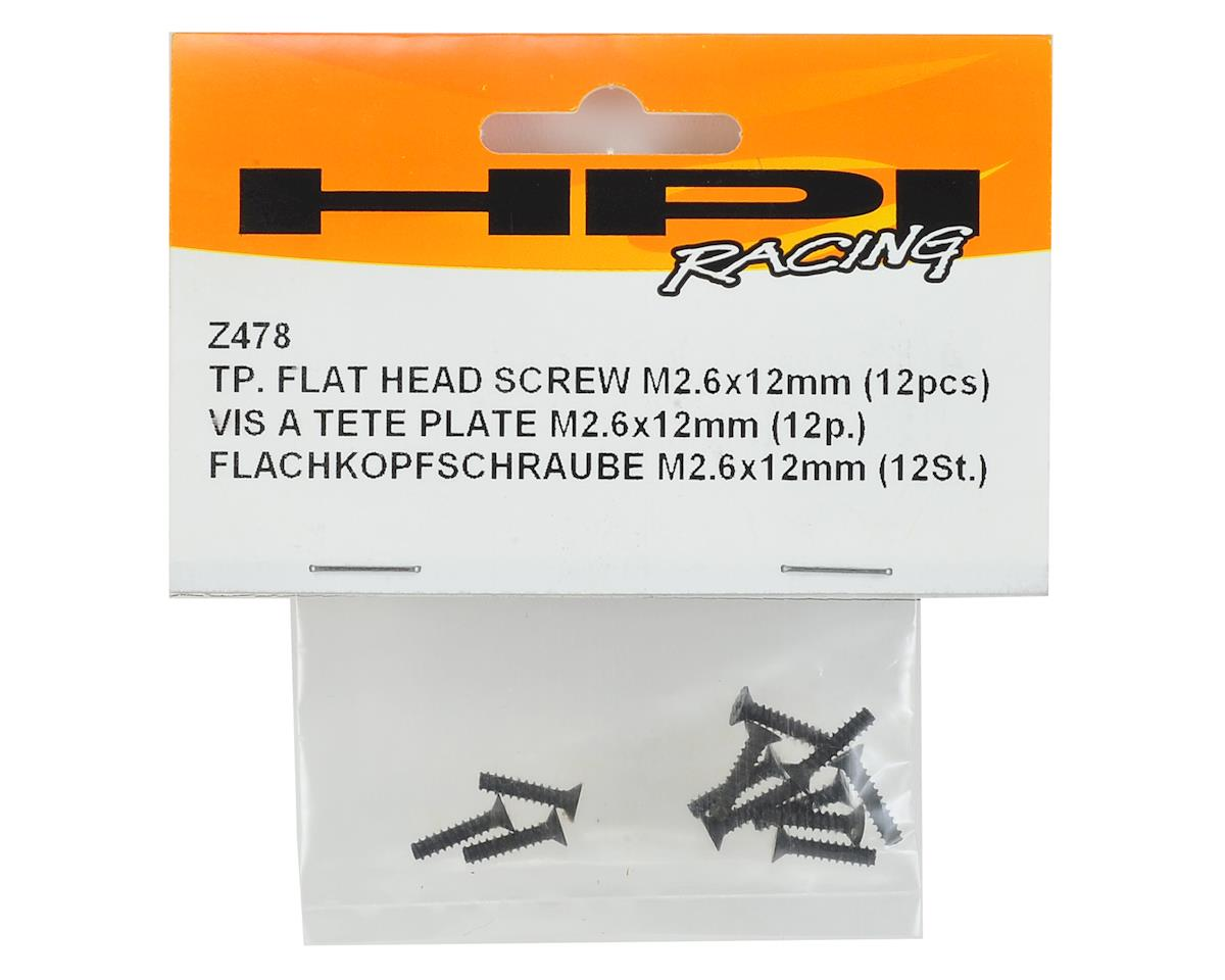 HPI 2.6x12mm Flat Head Self Tapping Phillips Screw (12)