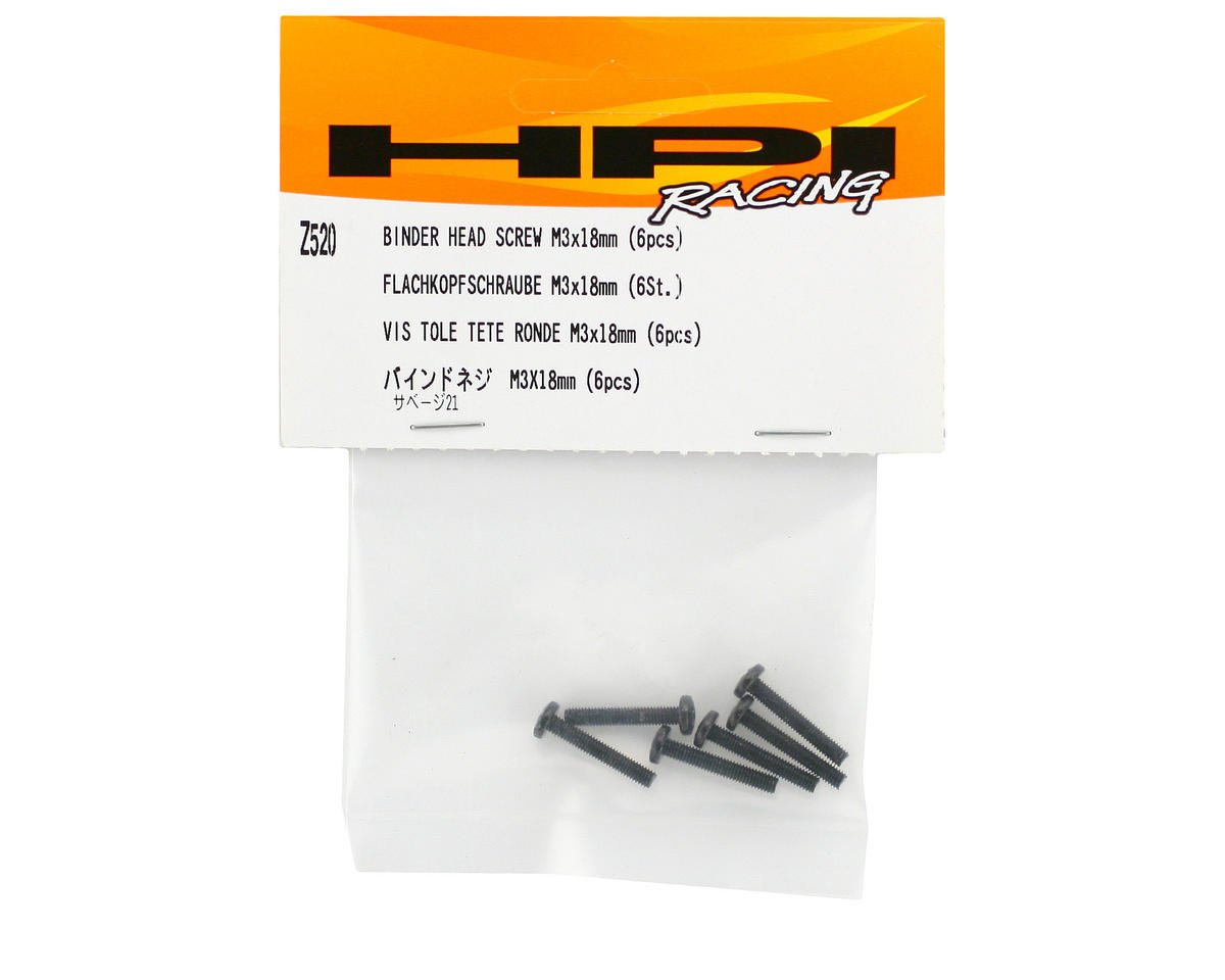 HPI Racing 3x18mm Binder Head Phillips Screw (6)