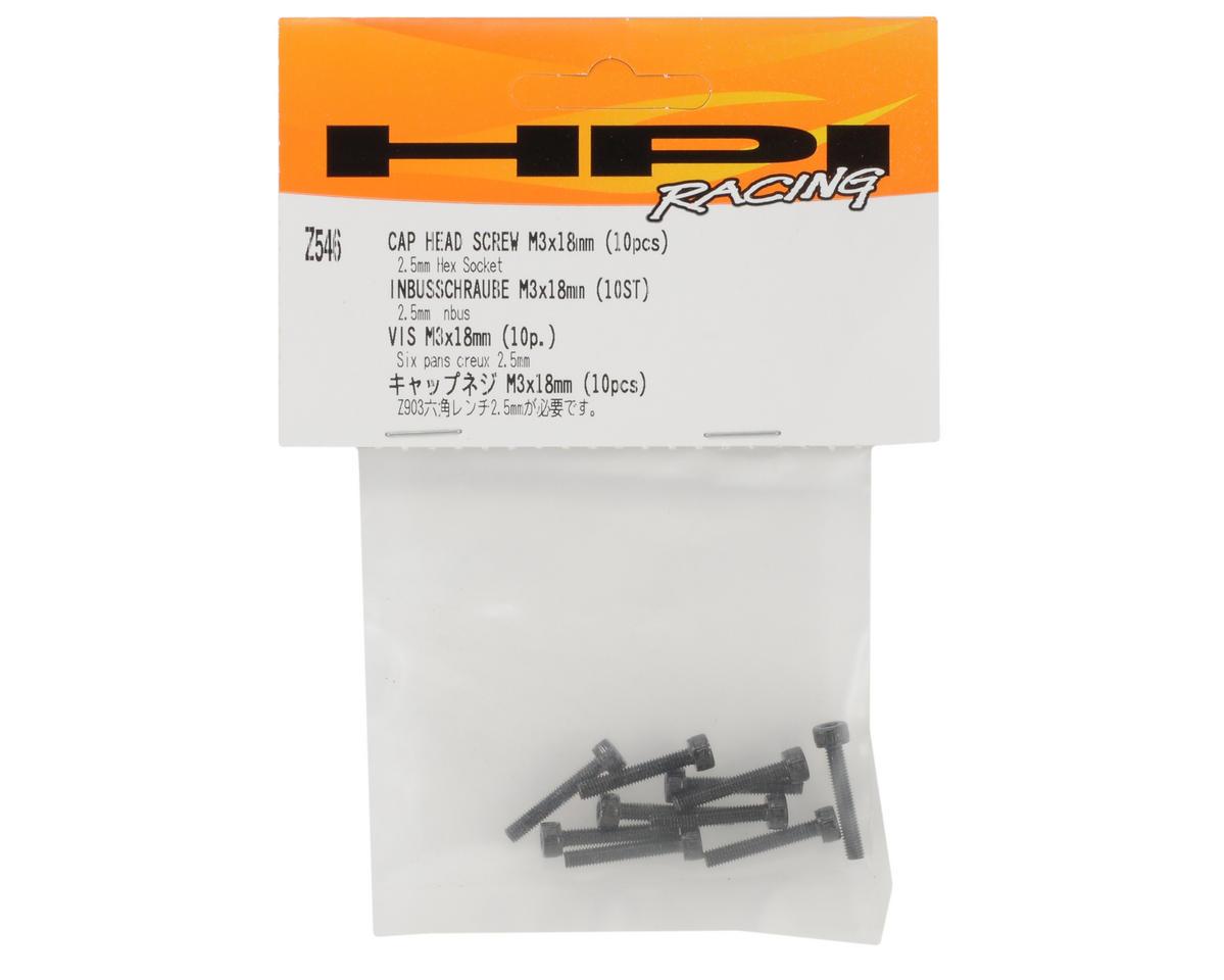 HPI Racing 3x18mm Cap Head Hex Screw (10)