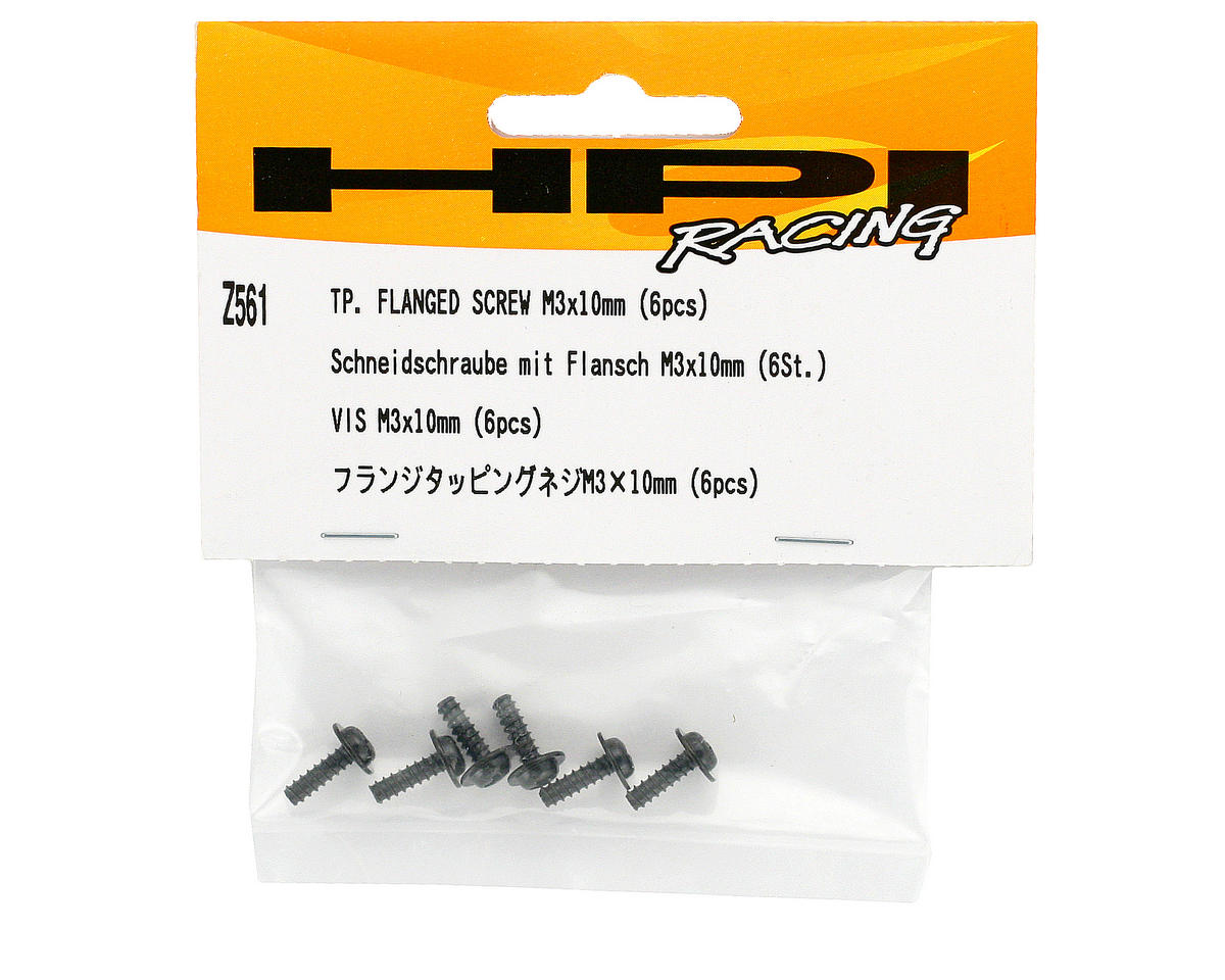 3x10mm Flanged Button Head Phillips Screw (6) by HPI