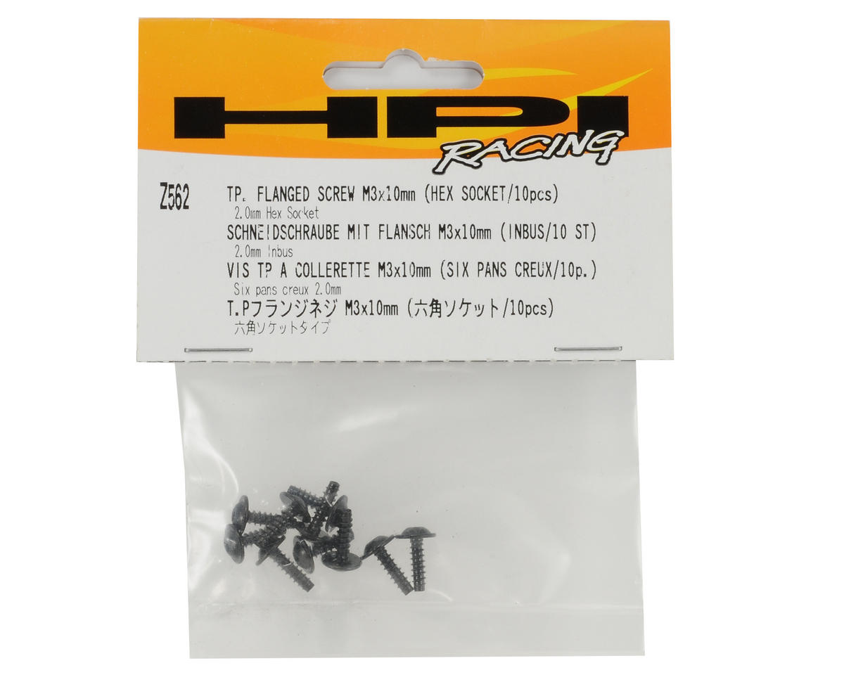 HPI 3x10mm Self Tapping Flanged Screw (10)
