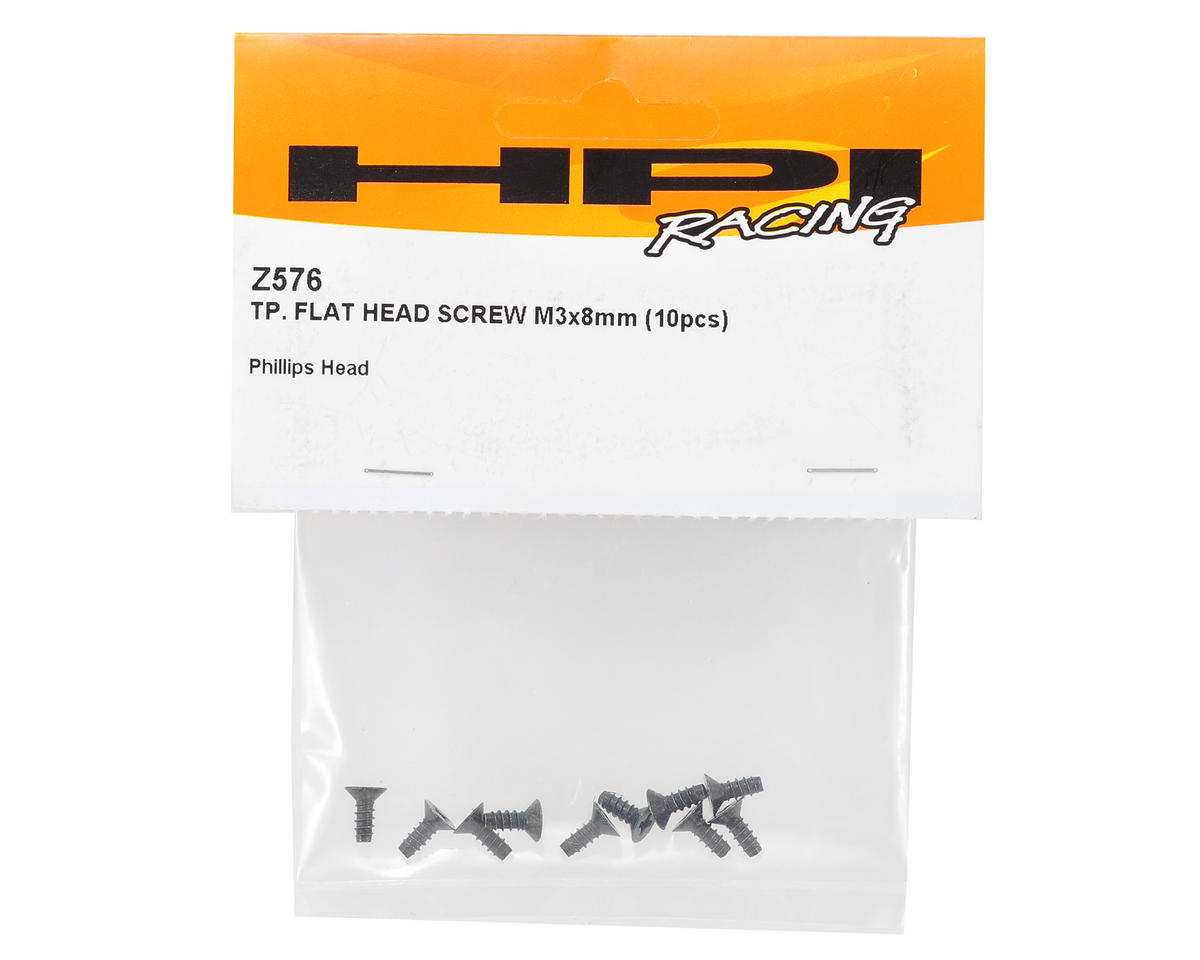HPI Racing 3x8mm Flat Head Screw (10)