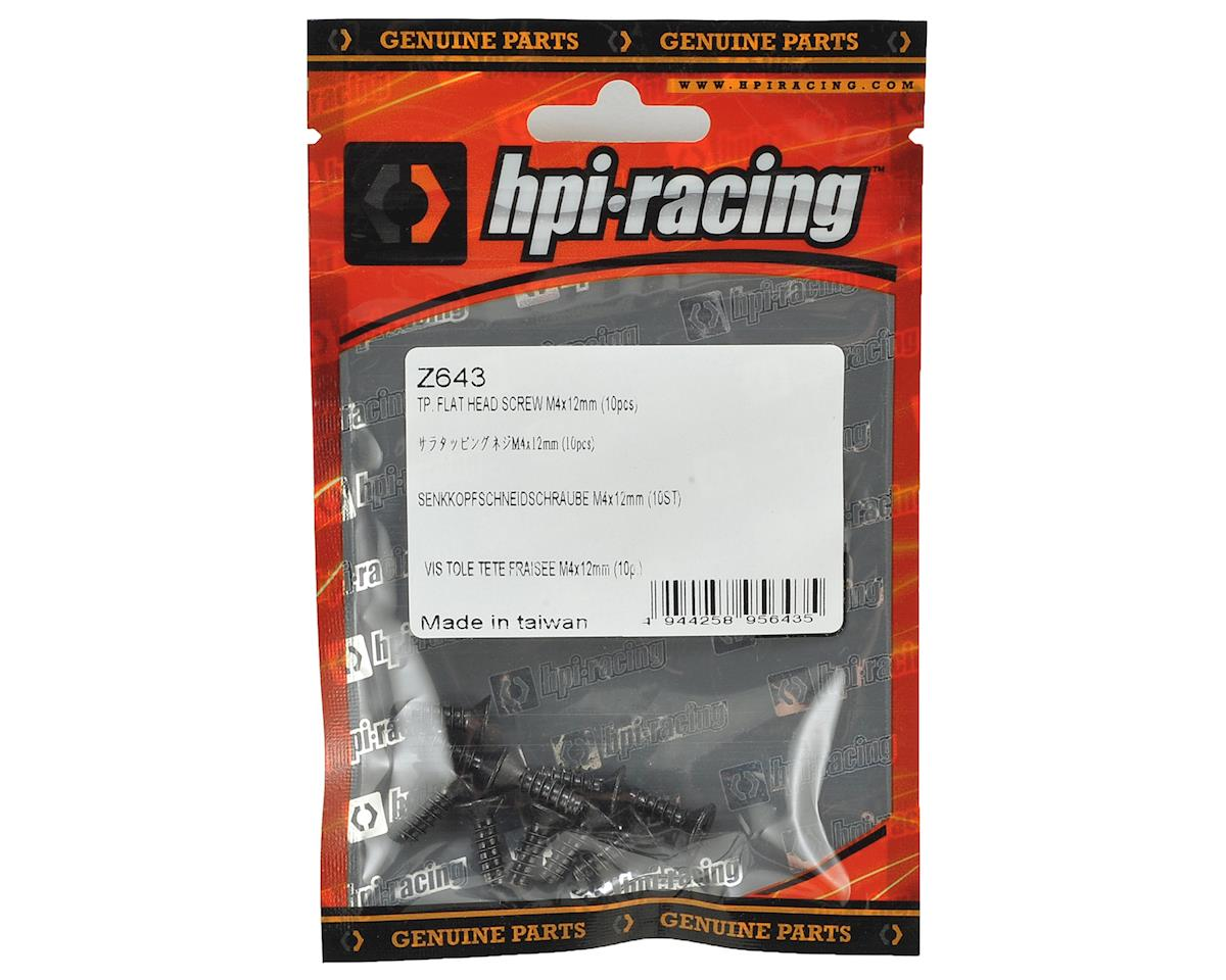 HPI 4x12mm Self Tapping Flat Head Phillips Screw (10)
