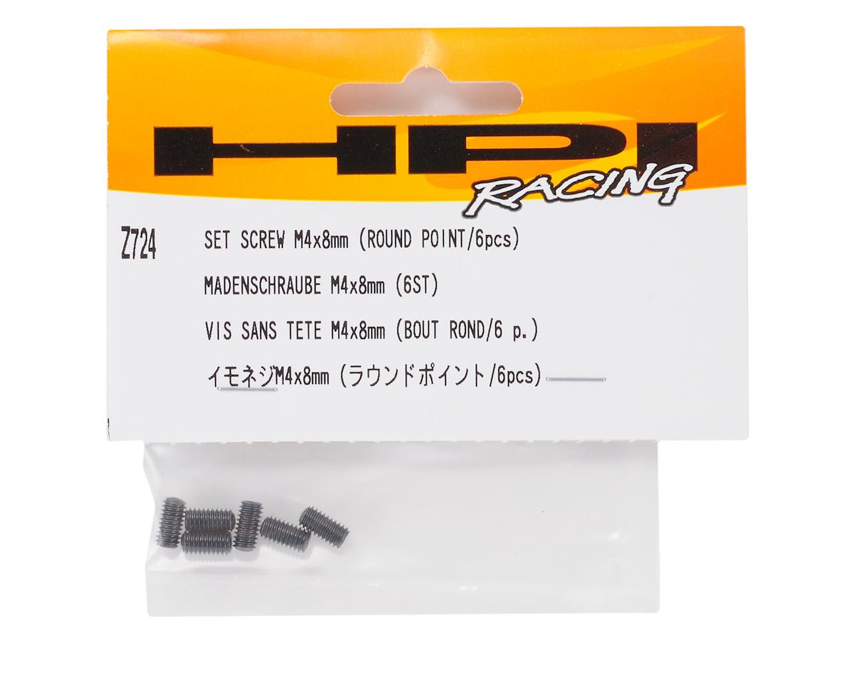 HPI Racing 4x8mm Set Screw (Round Point) (6)