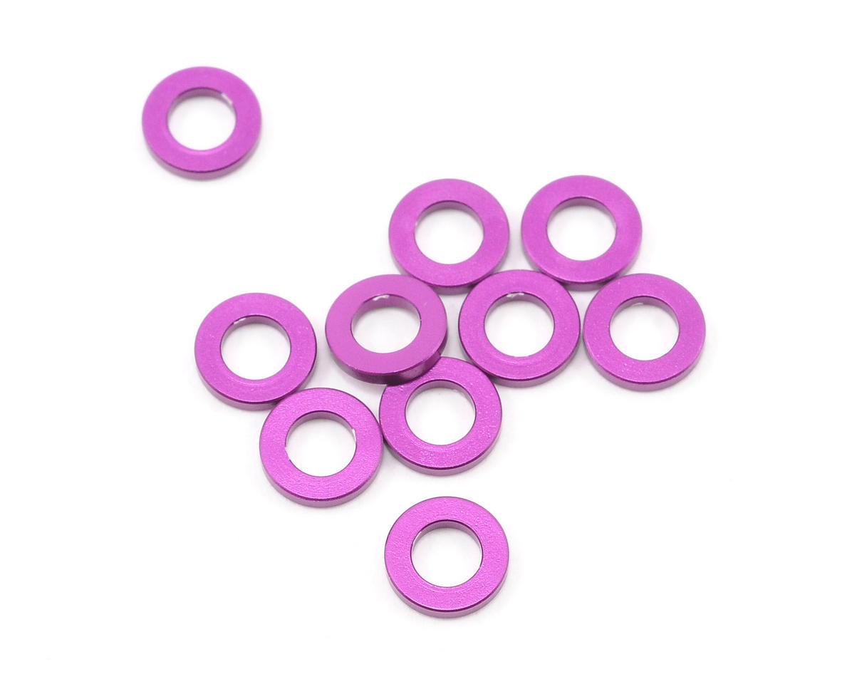 HPI Racing 3x6x1.0mm Aluminum Washer (Purple) (10) (Hot Bodies Cyclone TC)