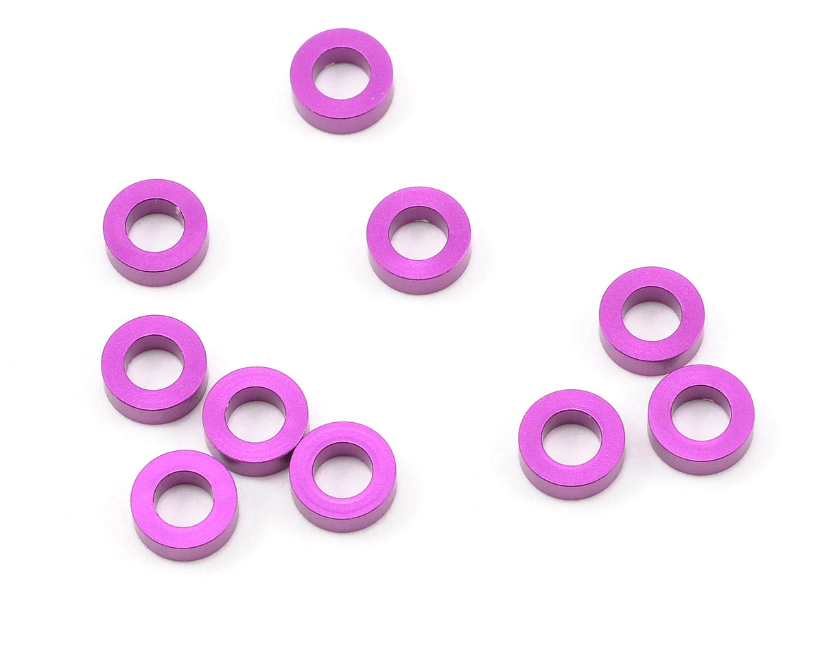 HPI Racing 3x6x2.0mm Aluminum Washer (Purple) (10) (Hot Bodies TCX)