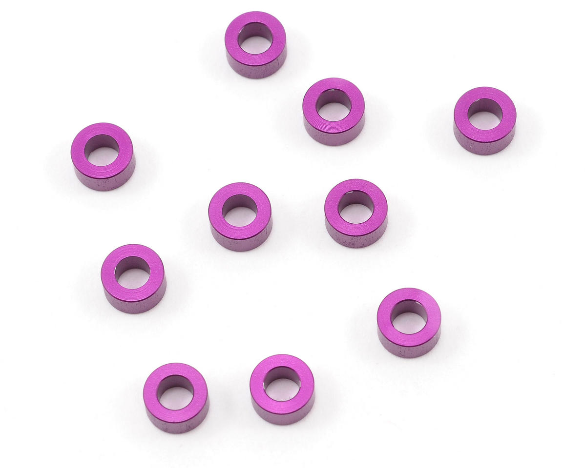 HPI Racing 3x6x3.0mm Aluminum Washer (Purple) (10)