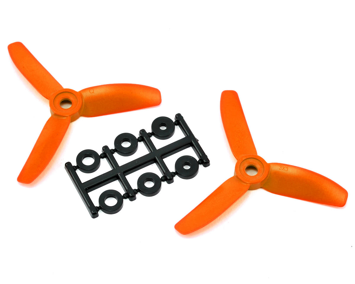 HQ Prop 3x3x3 Propeller (Orange) (2) (CCW)