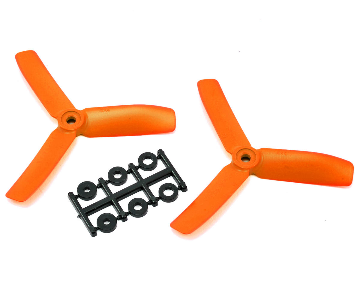 HQ Prop 4x4x3 Propeller (Orange) (2) (CCW)