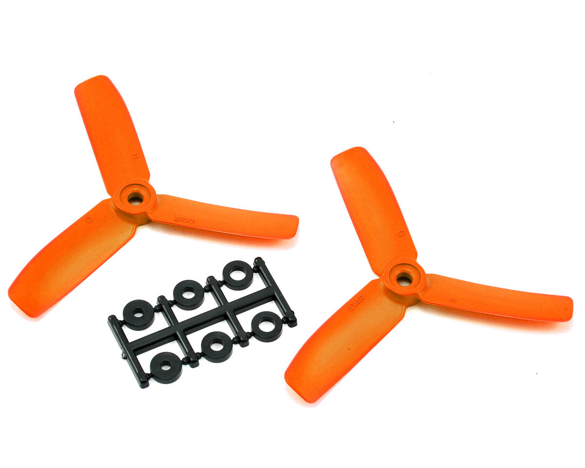 HQ Prop 4x4x3 Propeller (Orange) (2) (CW)