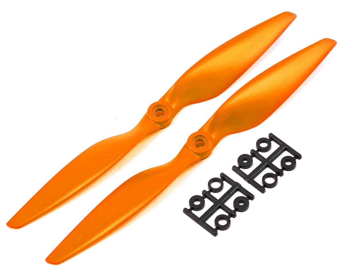 HQ Prop 9x4.5 Propeller (Orange) (2)