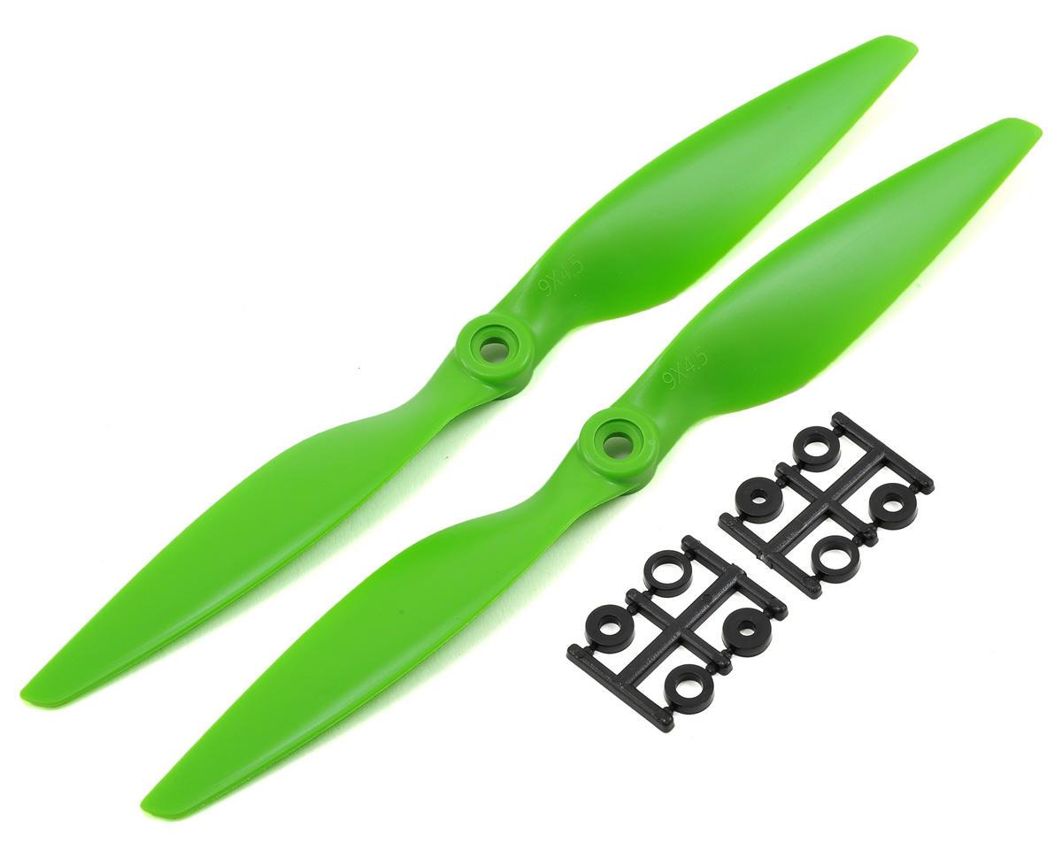 HQ Prop 9x4.5 Propeller (Green) (2)