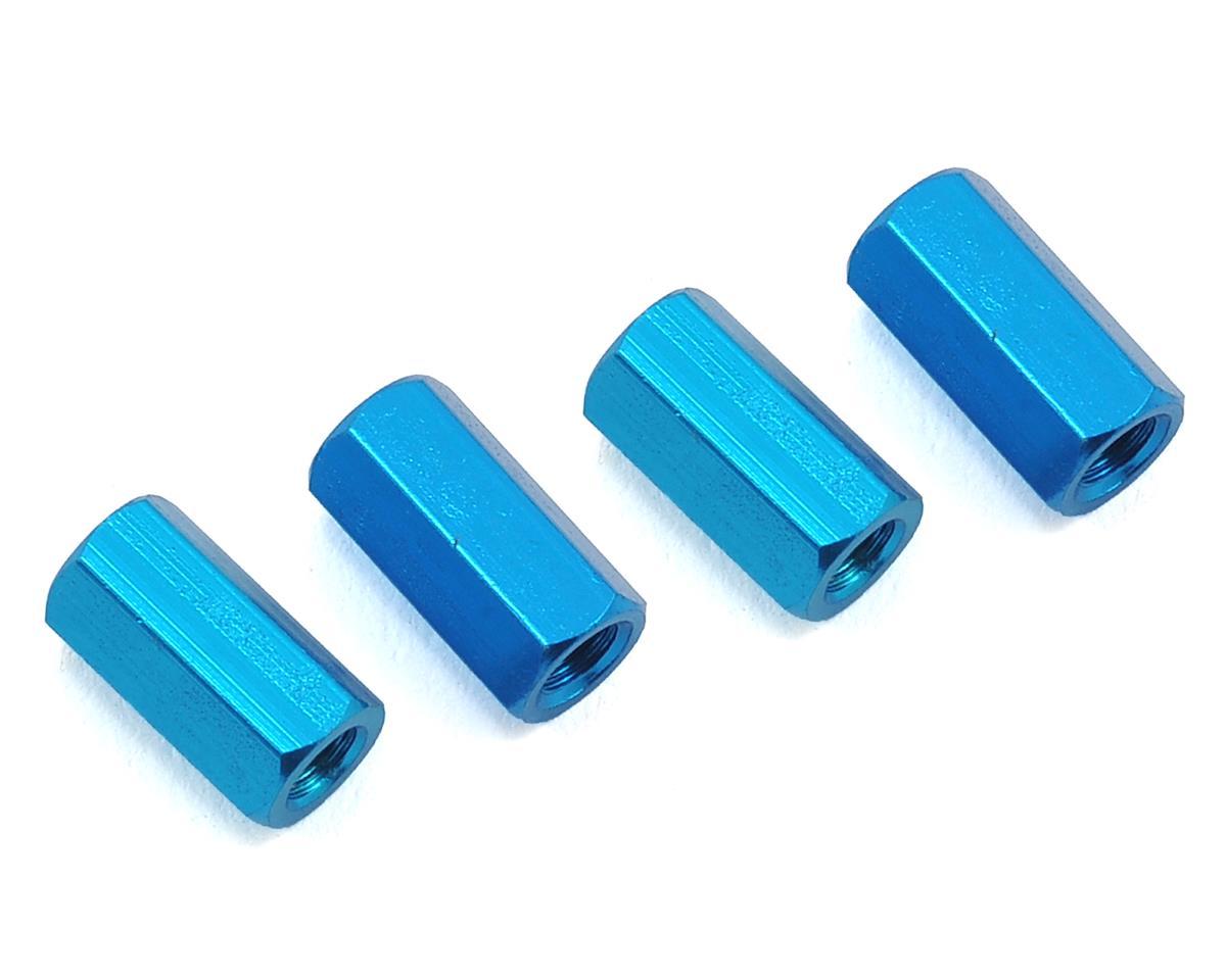 HQ Prop 3x10mm Aluminum Standoff (Blue) (4)