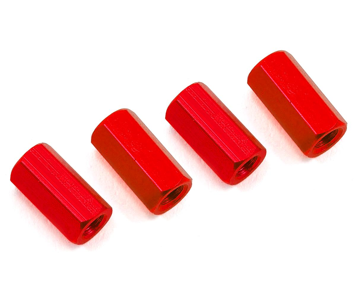 HQ Prop 3x10mm Aluminum Standoff (Red) (4)