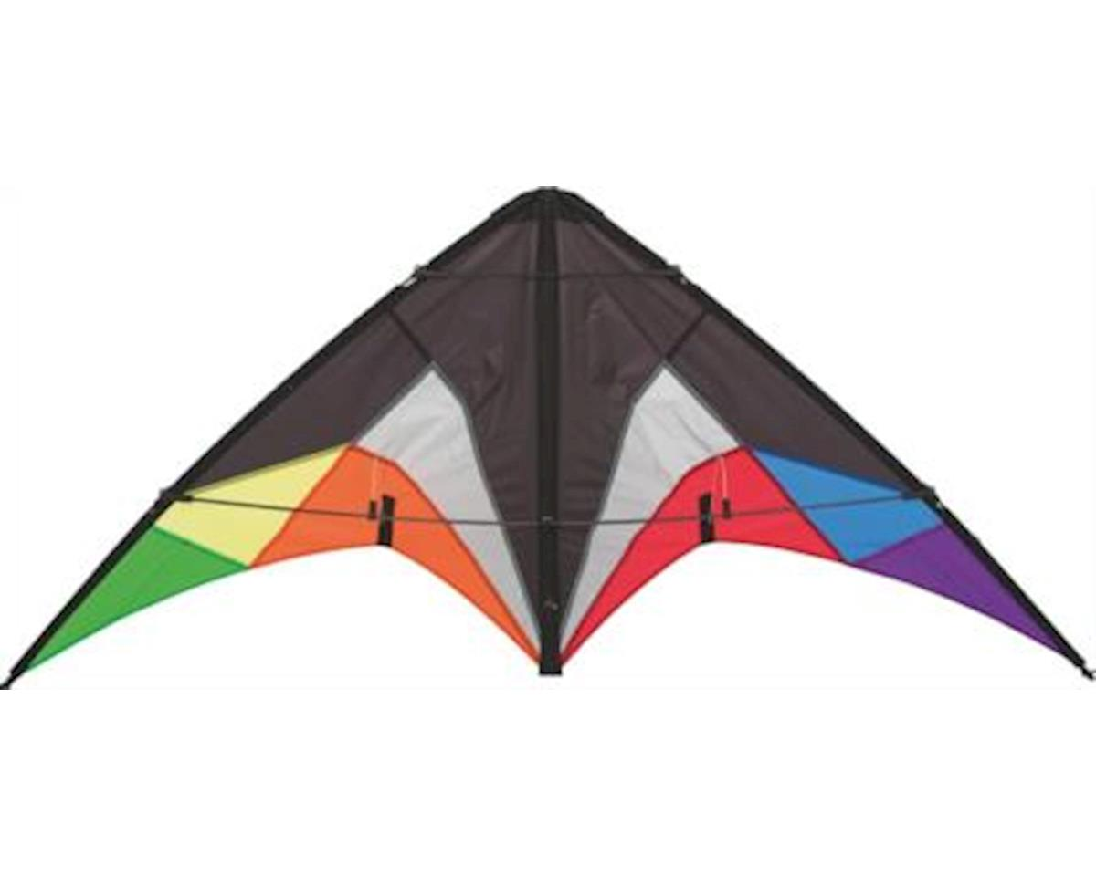 HQ Kites HQ Beach and Fun Sport Kite (Quickstep II Black Rainbow)