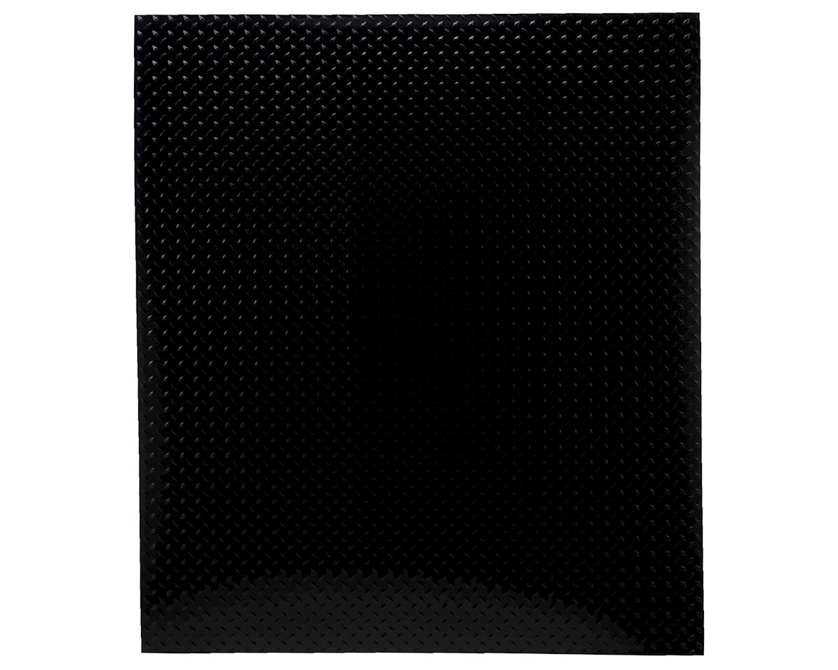 1/10 Scale Aluminum Diamond Plate (Black) (2) (22x25cm) by Hot Racing