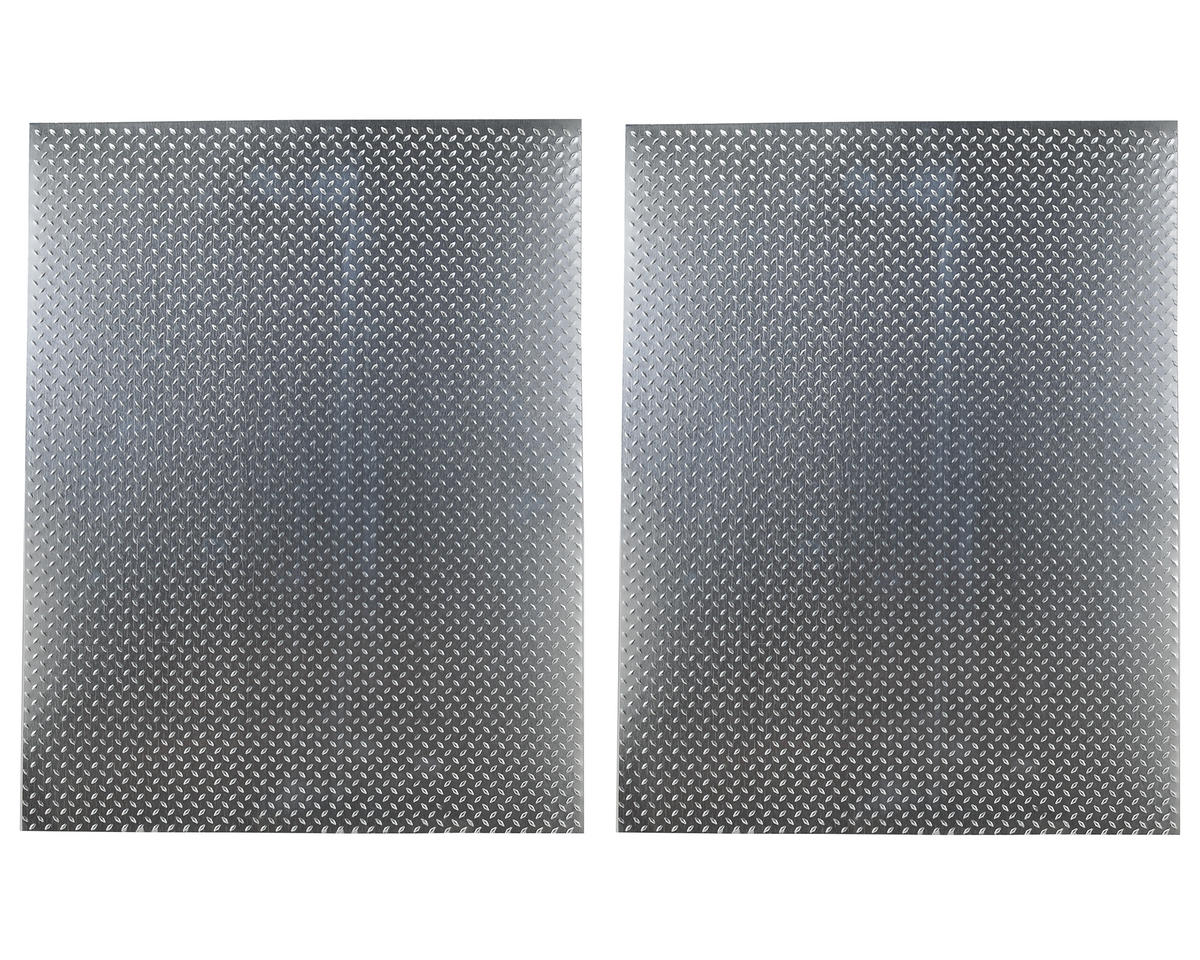 Aluminum Scale Diamond Plate Sheet (Silver) (2) (22x28cm) by Hot Racing