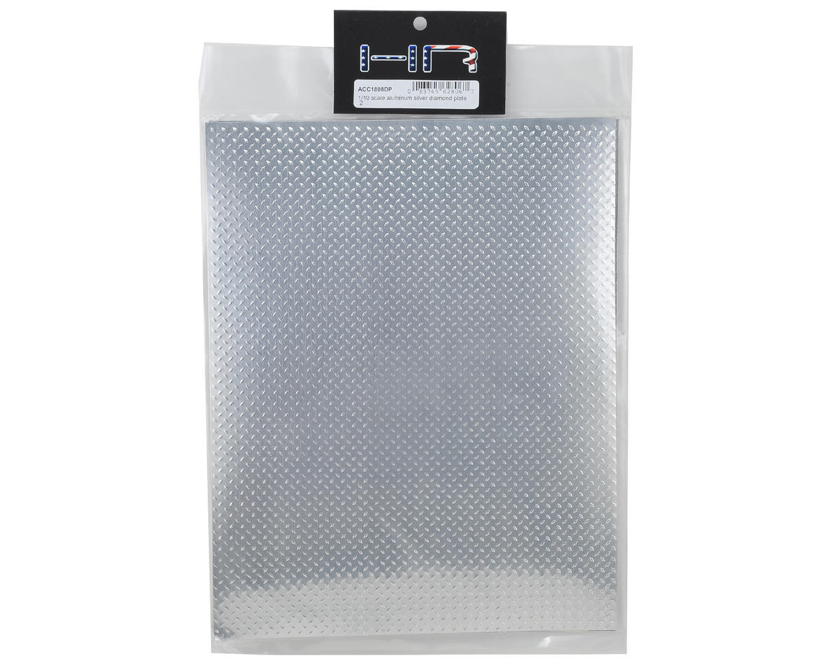 Hot Racing Aluminum Scale Diamond Plate Sheet (Silver) (2) (22x28cm)