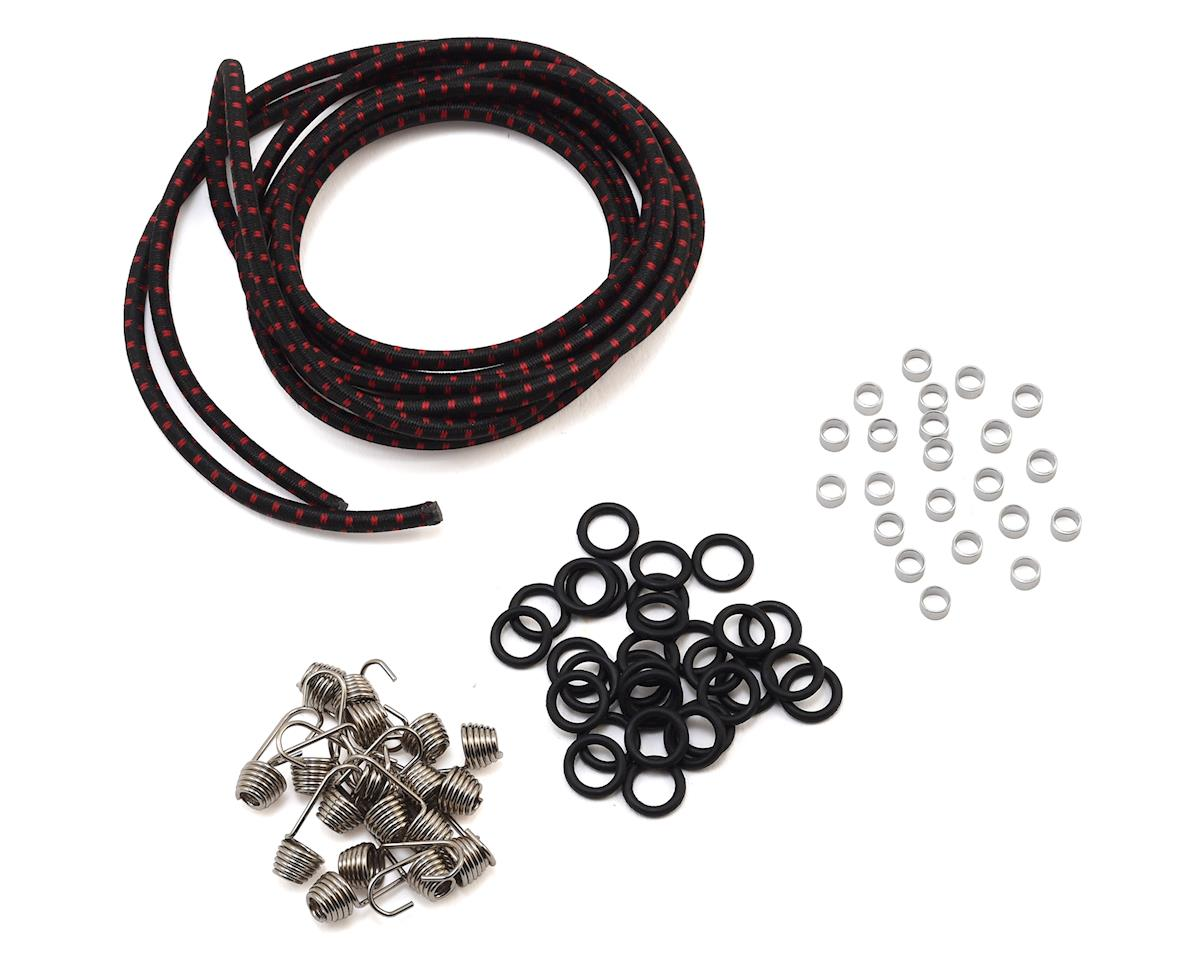 Hot Racing 1/10 Scale Cargo Net Kit (Black/Red)