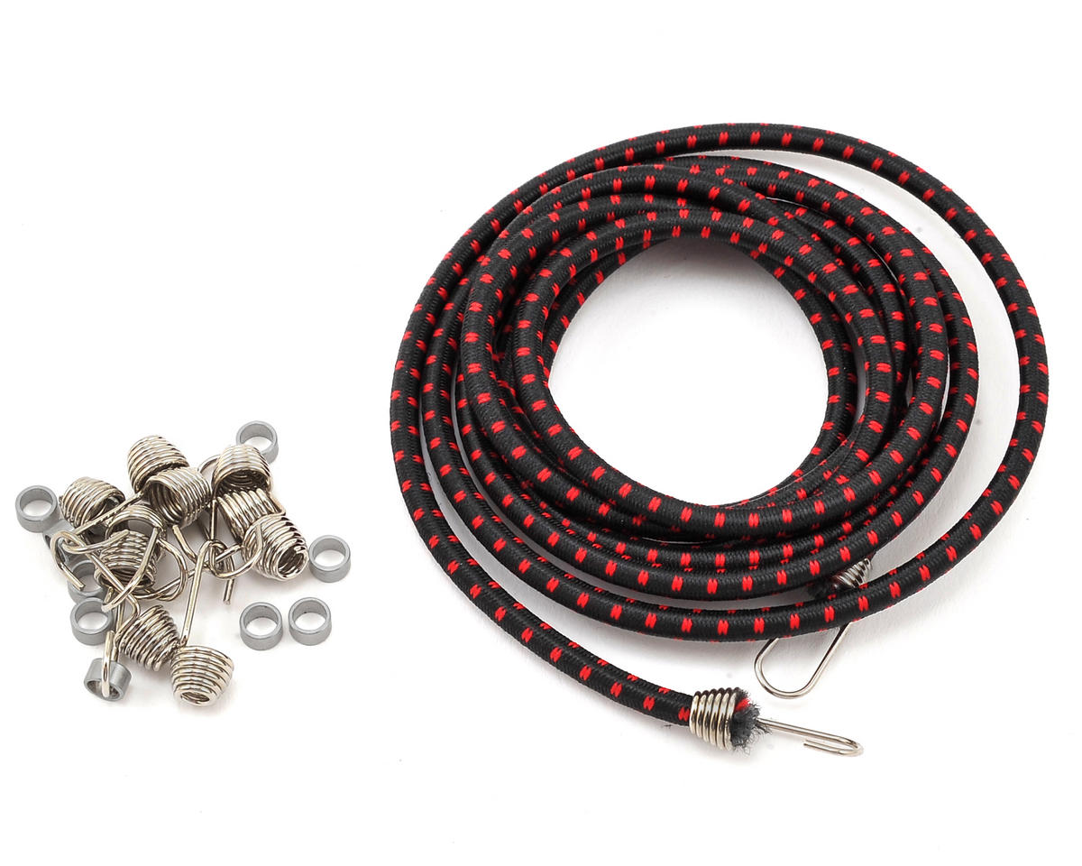Hot Racing 1/10 Bungee Cord Kit (Black/Red)