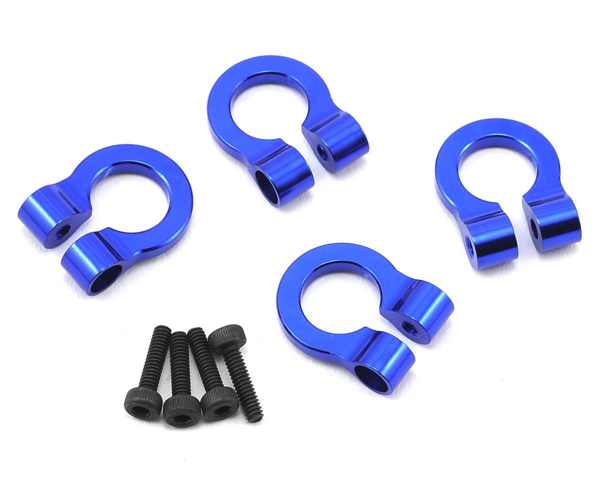 1/10 Aluminum Tow Shackle D-Rings (Blue) (4) by Hot Racing