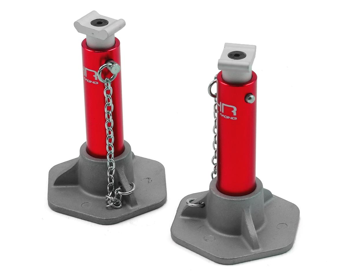 1/10 Aluminum Jack Stands (Red) by Hot Racing