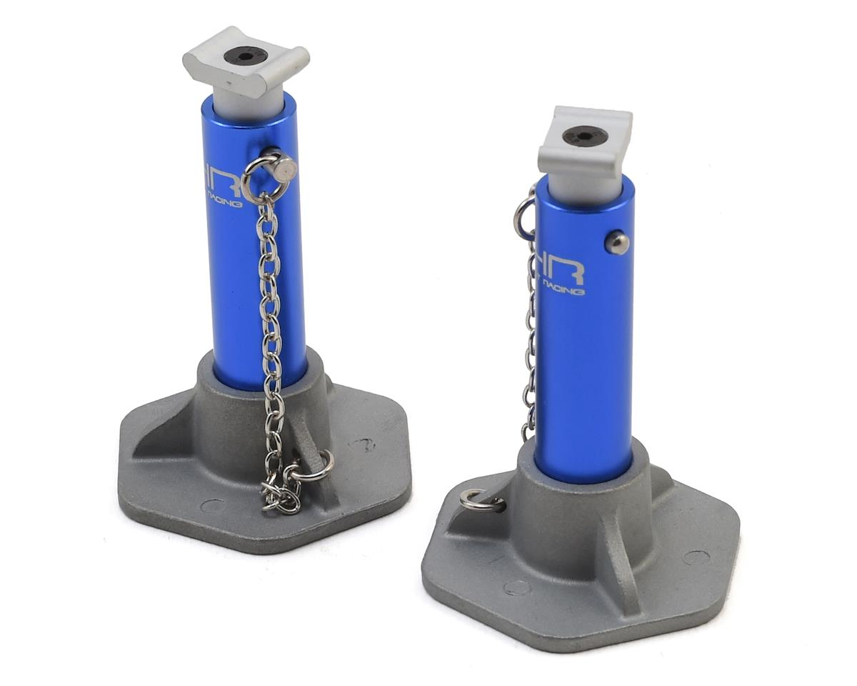 Hot Racing 1/10 Scale Aluminum Jack Stands (Blue)