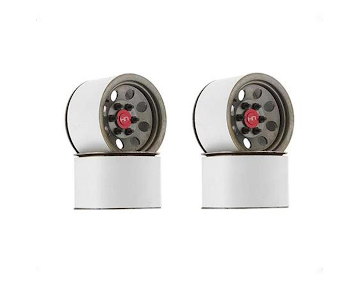 Hot Racing Steel 2.2 Beadlock 6-Lug 8-Hole Wheels 12mm