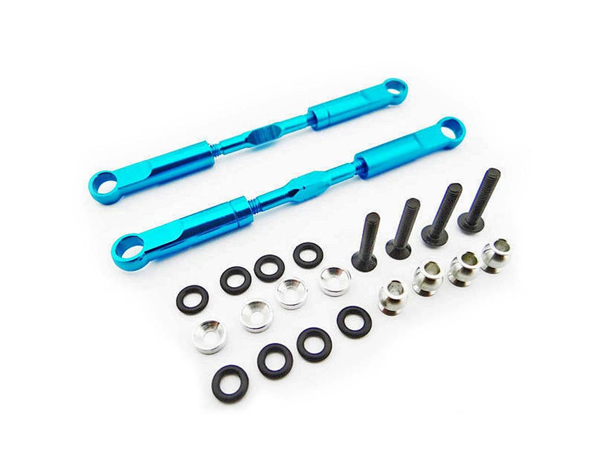 Hot Racing 89mm Aluminum Rear Turnbuckles (Blue) (2)