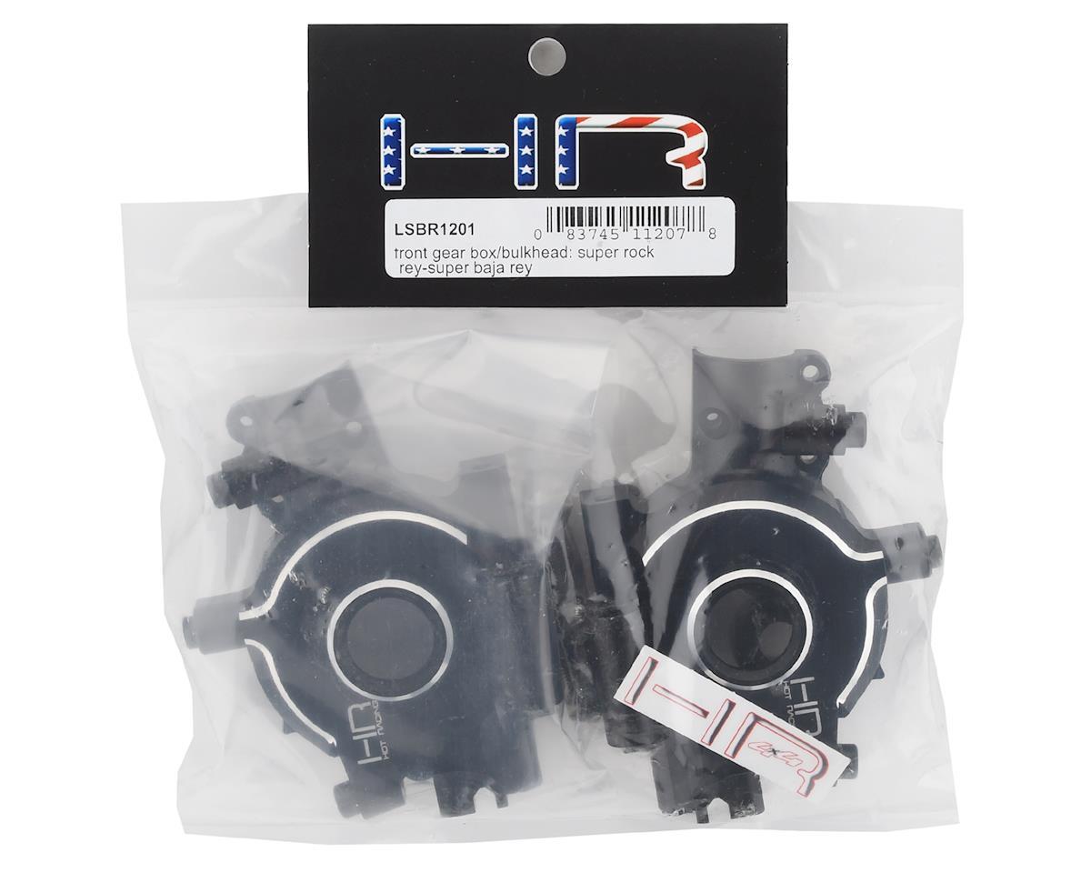 Hot Racing Losi Super Baja Rey/Rock Rey Aluminum Front Gear Box/Bulkhead (Black)