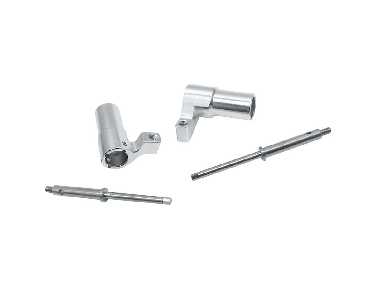 Hot Racing Blue/Silver Aluminum Rear Axle Lock-Out Kit