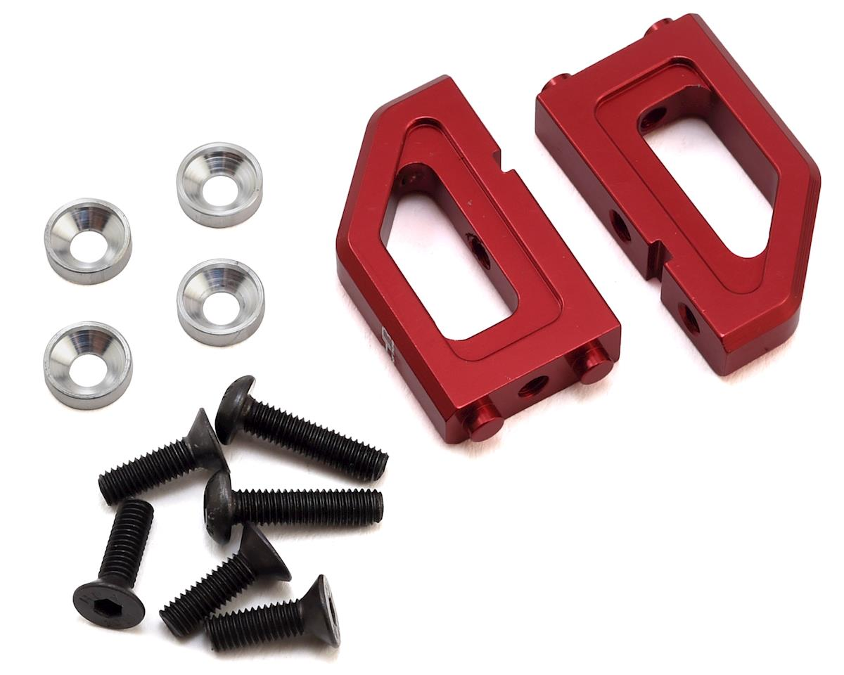 Hot Racing Arrma Nero Aluminum Steering Servo Mounts (Red)