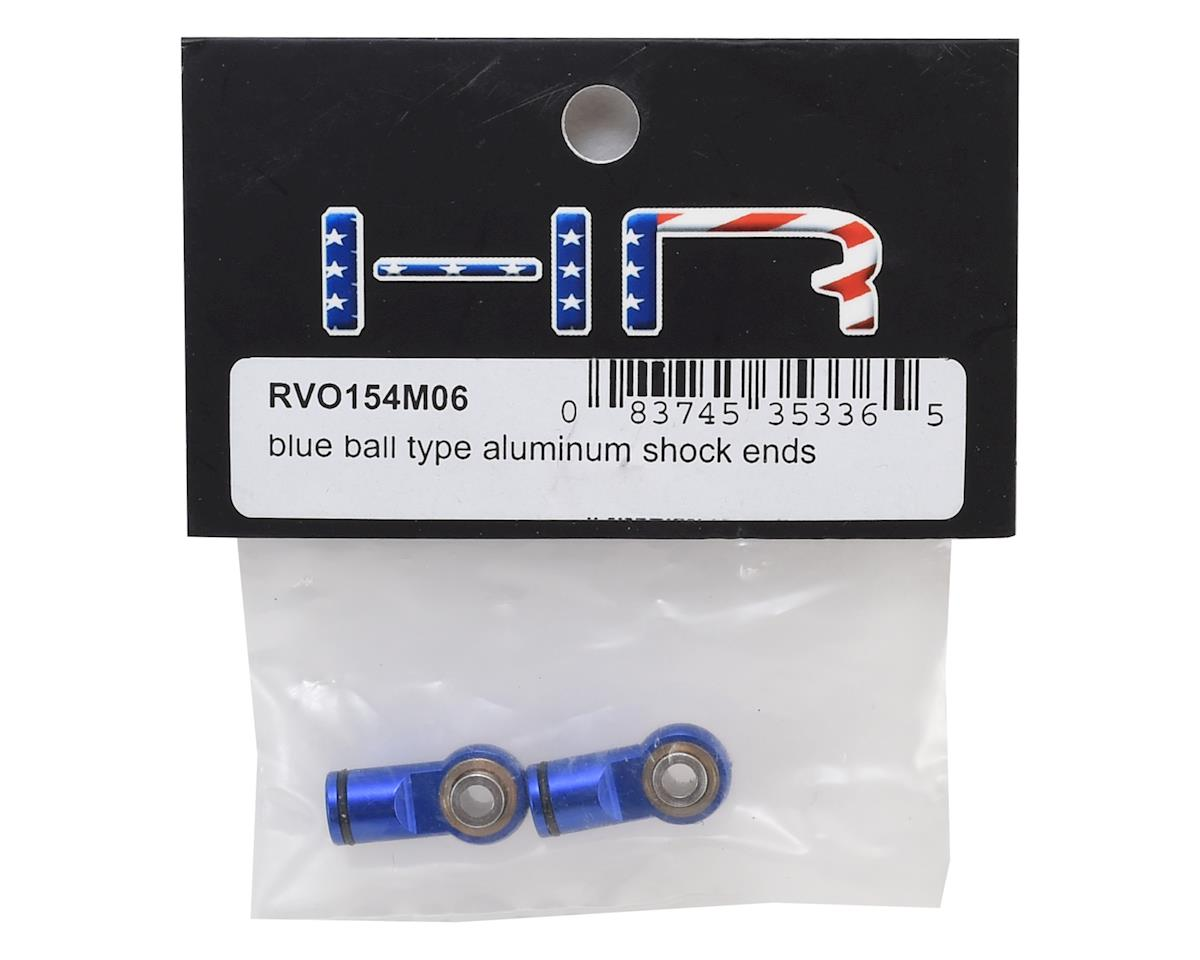 Hot Racing Traxxas Revo Ball Type Aluminum Shock Ends (Blue)