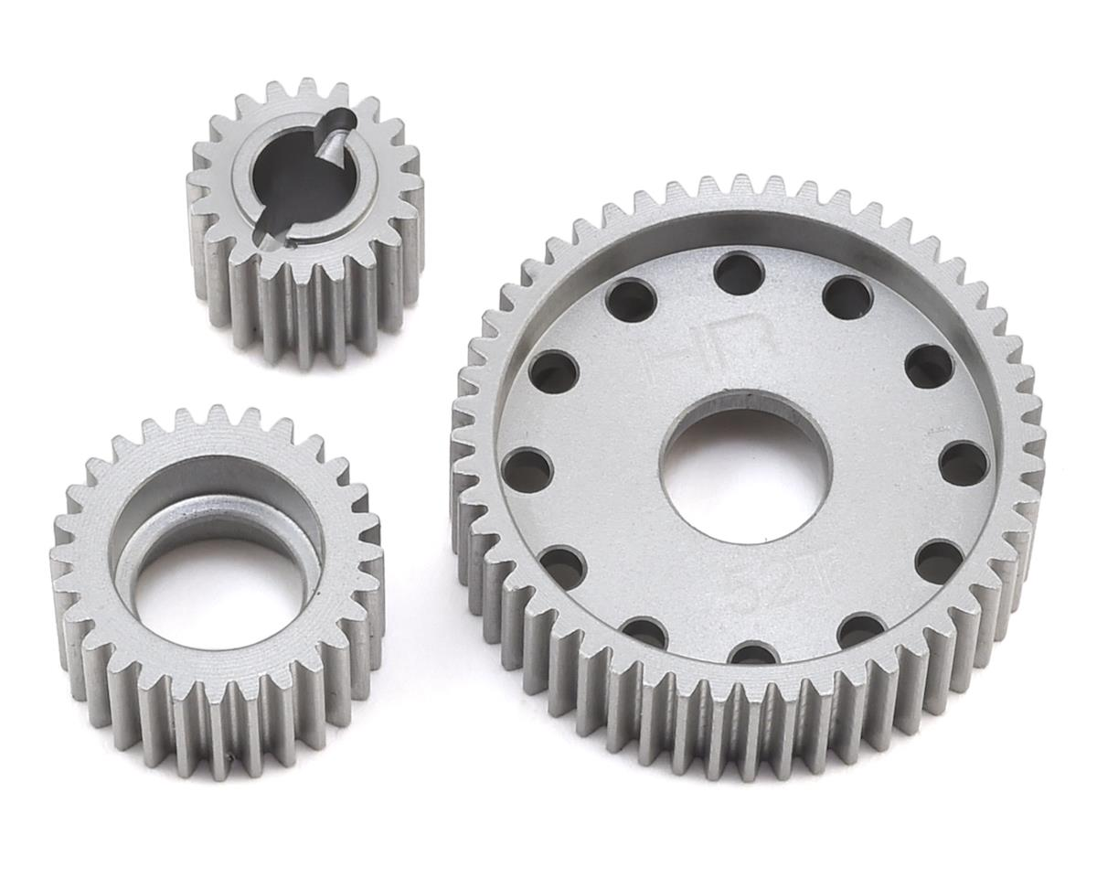 Axial SCX10 Hard Anodized Aluminum Transmission Gear Set by Hot Racing