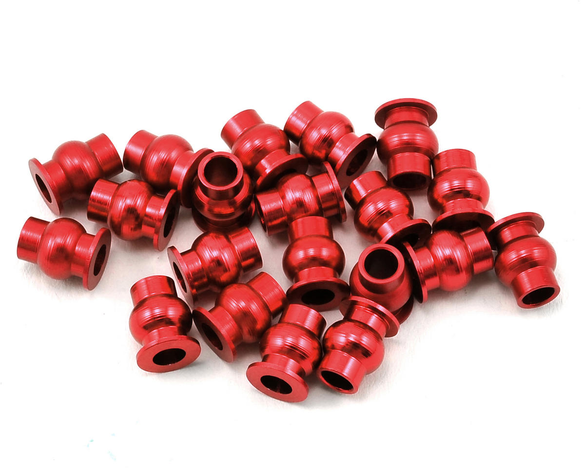 Aluminum Pivot Ball Set (Red) (20) by Hot Racing