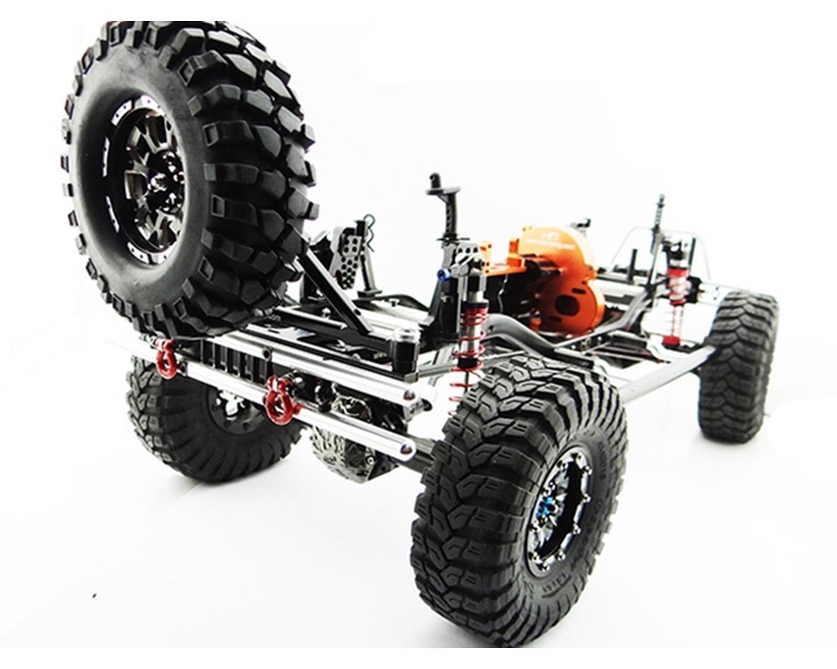Hot Racing Aluminum Rear Bumper Tires Carrier SCX Jeep