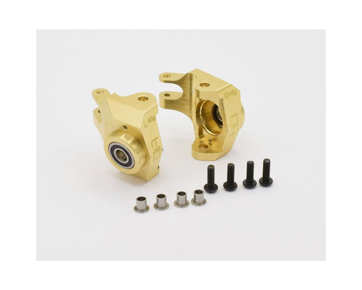 Hot Racing Axial SCX10 II Brass Heavy Metal AR44 Steering Knuckle w/HD Bearing