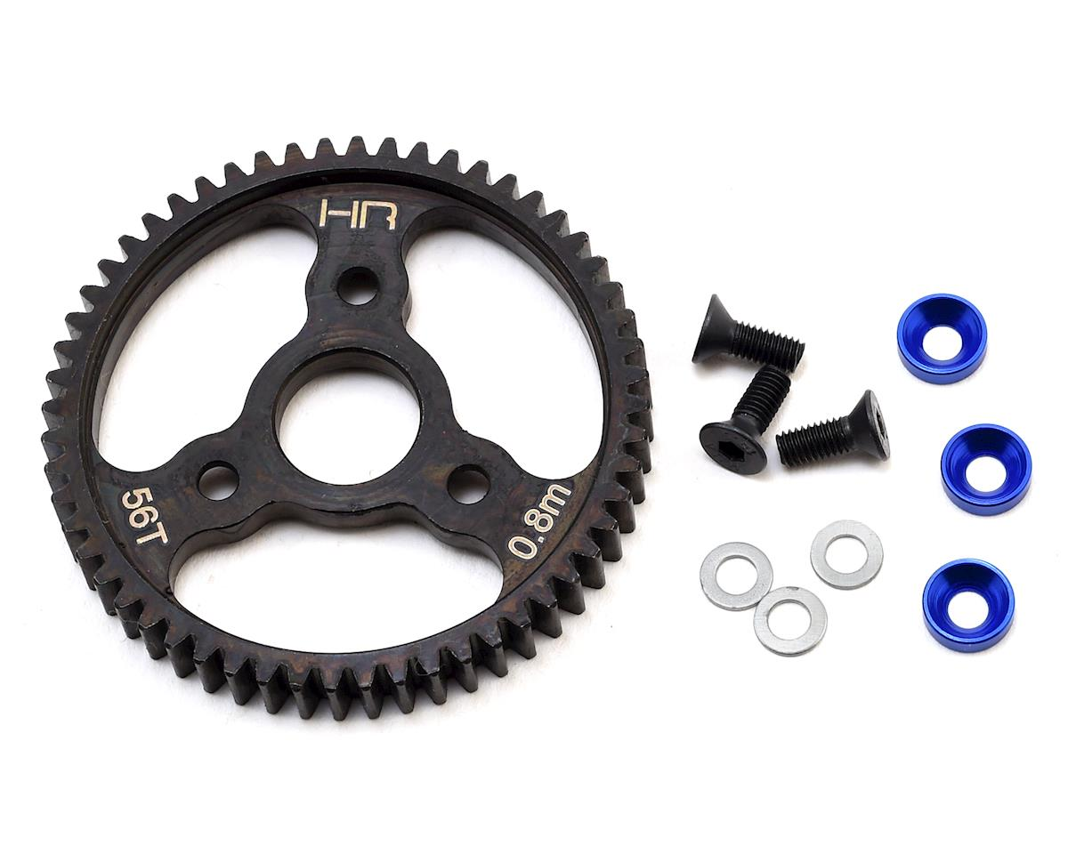 T-Maxx Steel 0.8 Mod Spur Gear (56T) (Blue) by Hot Racing