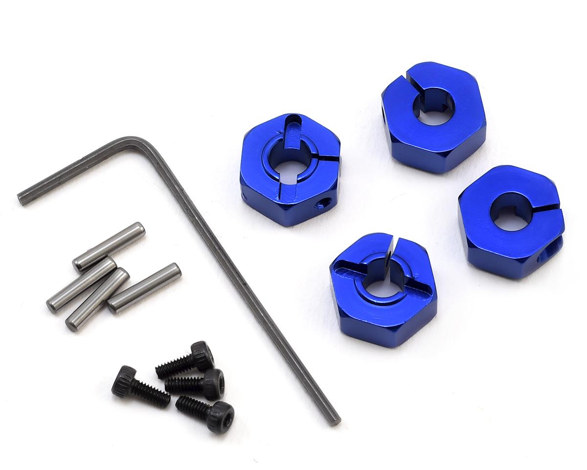Traxxas Slash 4x4 Aluminum Locking 12mm Wheel Hex Kit (Blue) by Hot Racing
