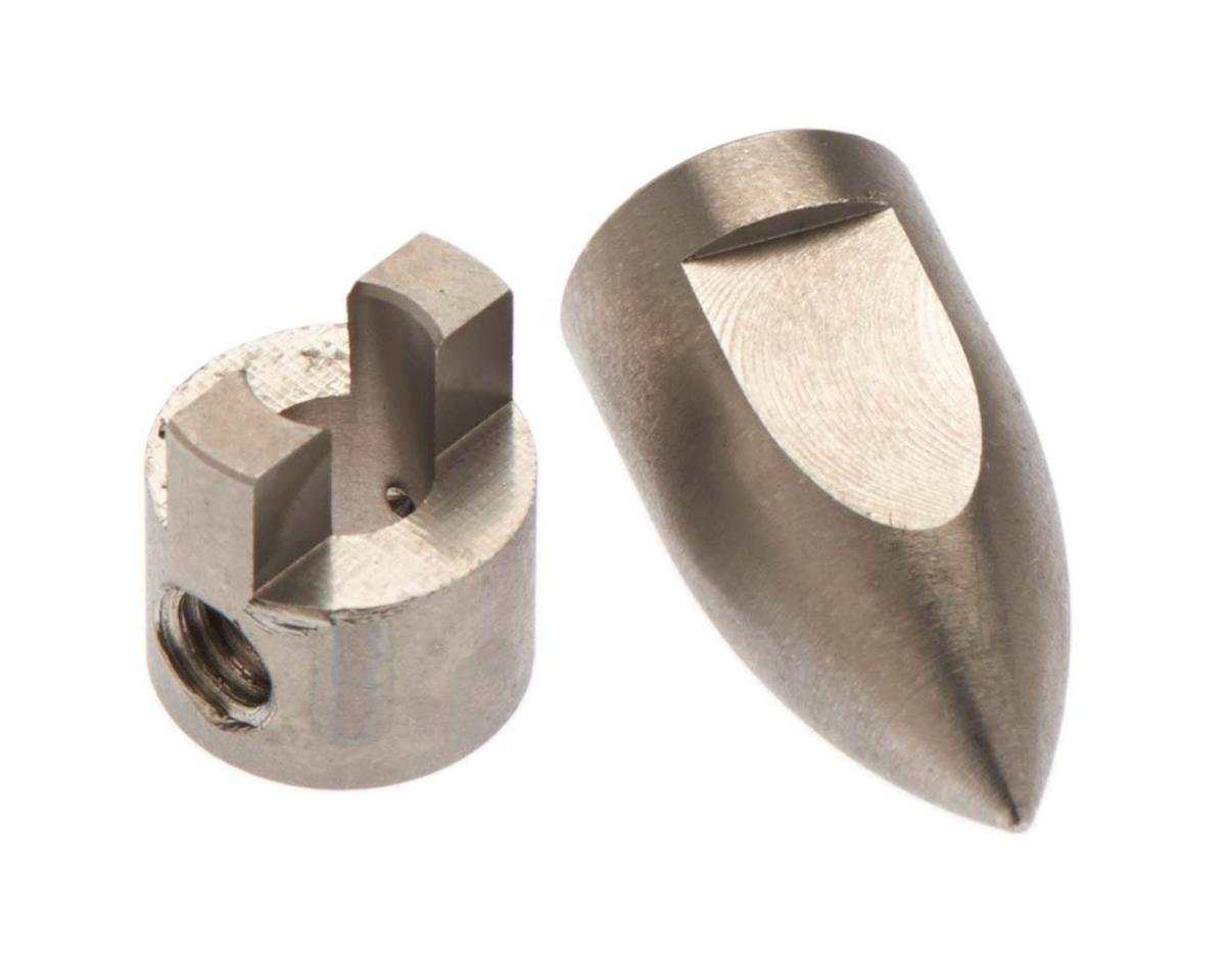 Hot Racing Conical Bullet M4 Prop Nut/Drive Dog Spartan (Traxxas M41)