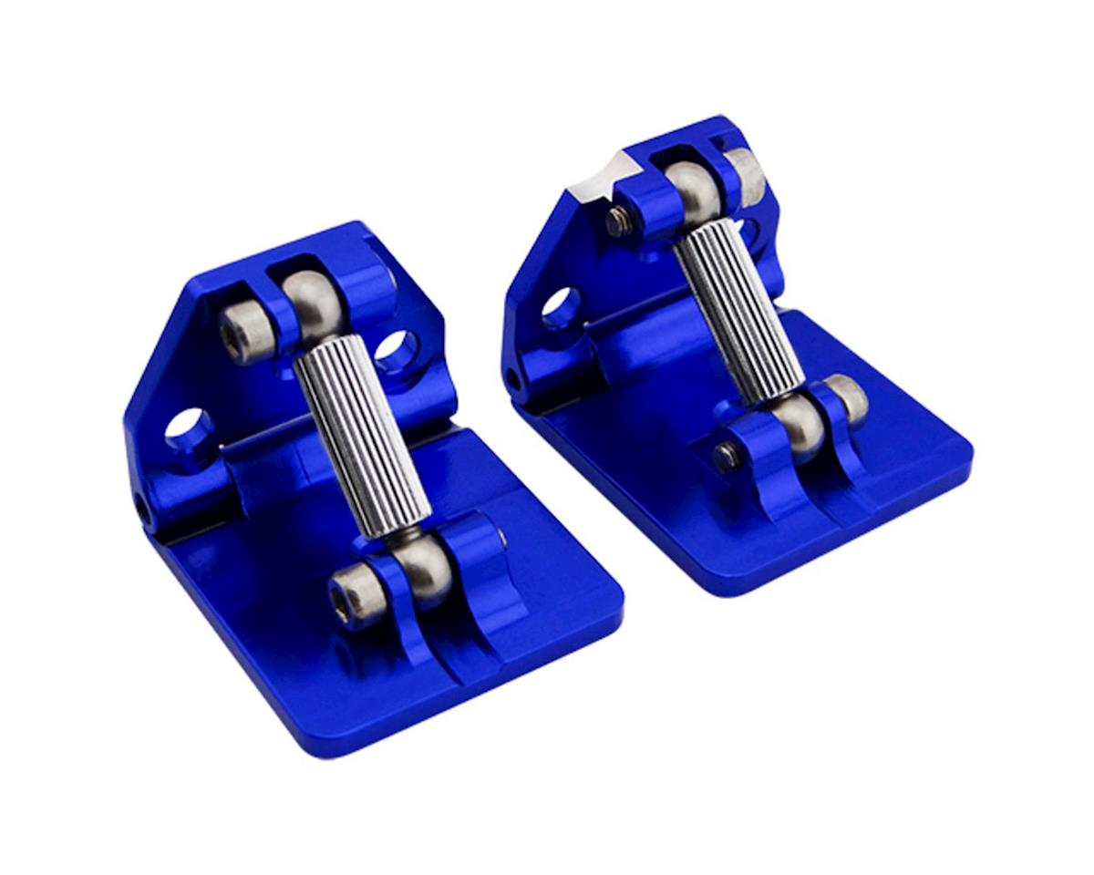 Hot Racing Traxxas Spartan Aluminum Adjustable Trim Tab Set (Blue)