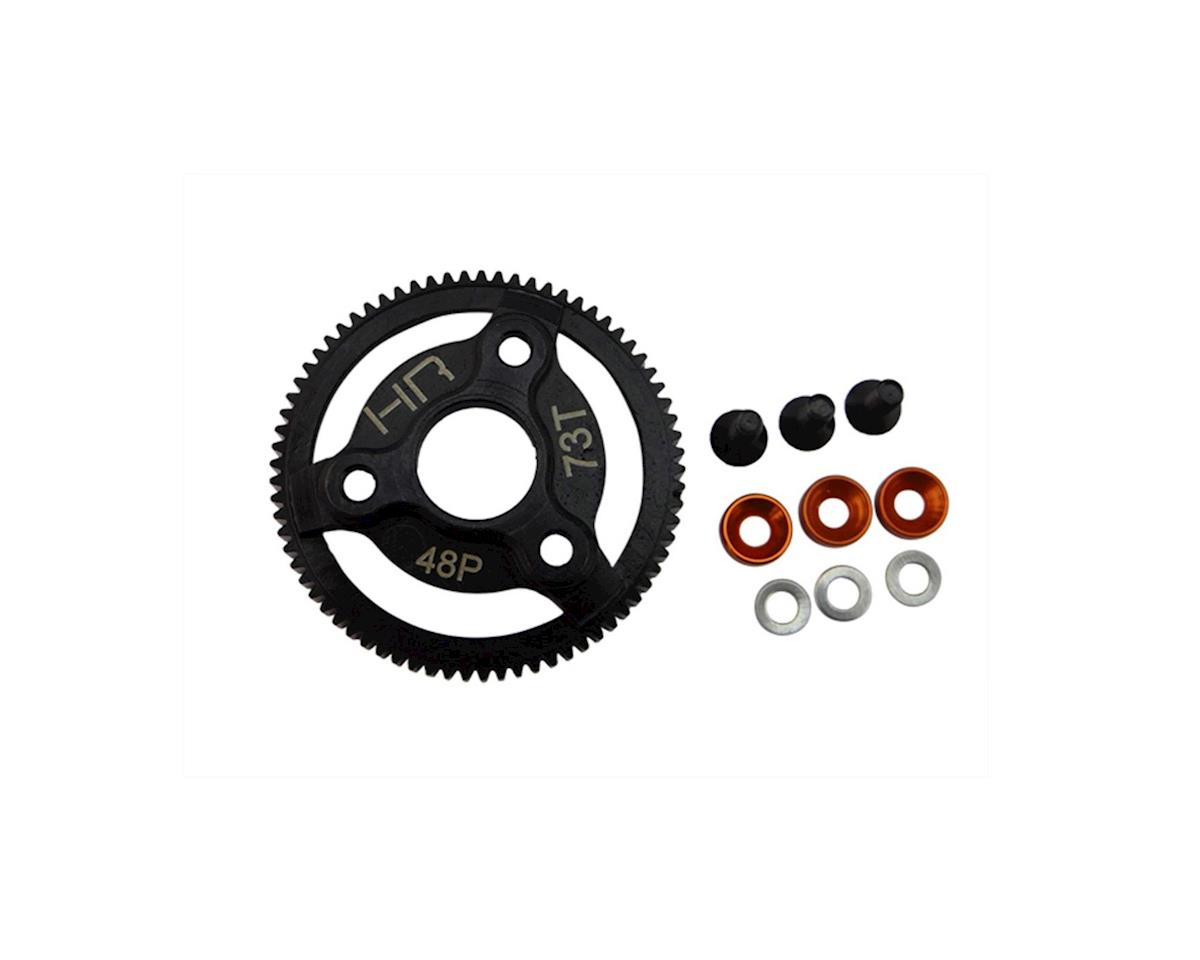 Hot Racing Traxxas 48P Hardened Steel Spur Gear (73T) (Orange)