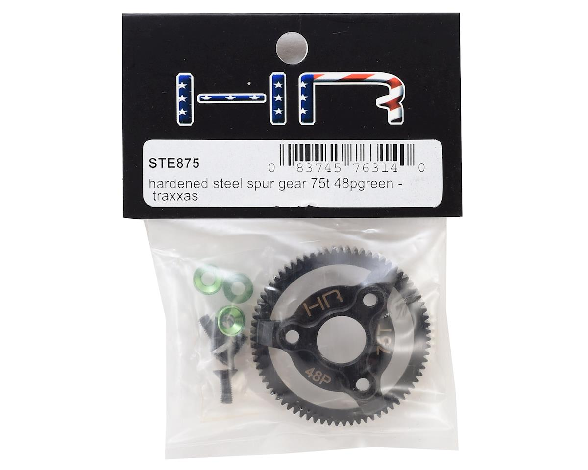 Traxxas 48P Hardened Steel Spur Gear (75T) (Green) by Hot Racing