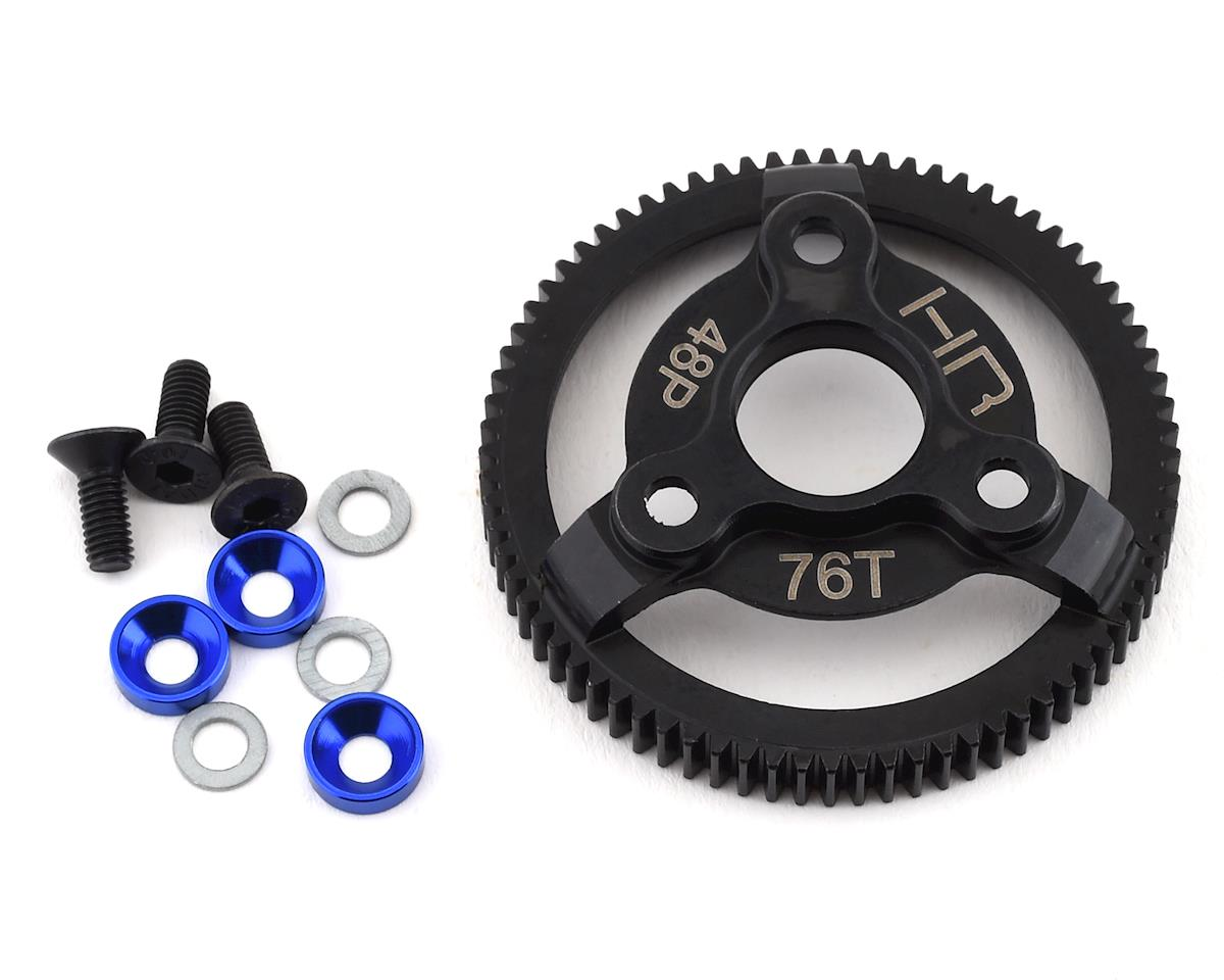 Hot Racing Traxxas Steel 48P Spur Gear (Blue) (76T)