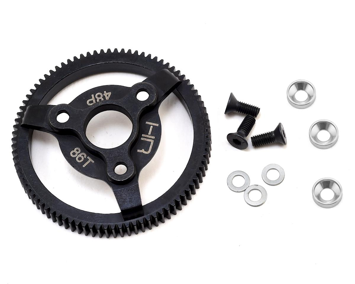 Hot Racing Traxxas 48P Hardened Steel Spur Gear (86T) (Silver)