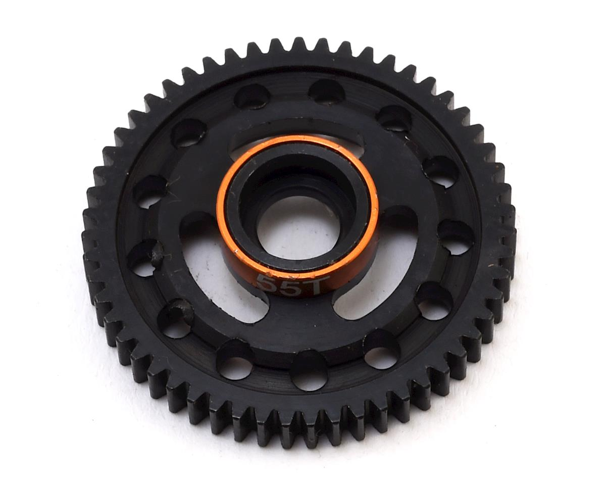 Hot Racing Traxxas 1/16 E-Revo Steel Spur Gear (55T) (Gold)
