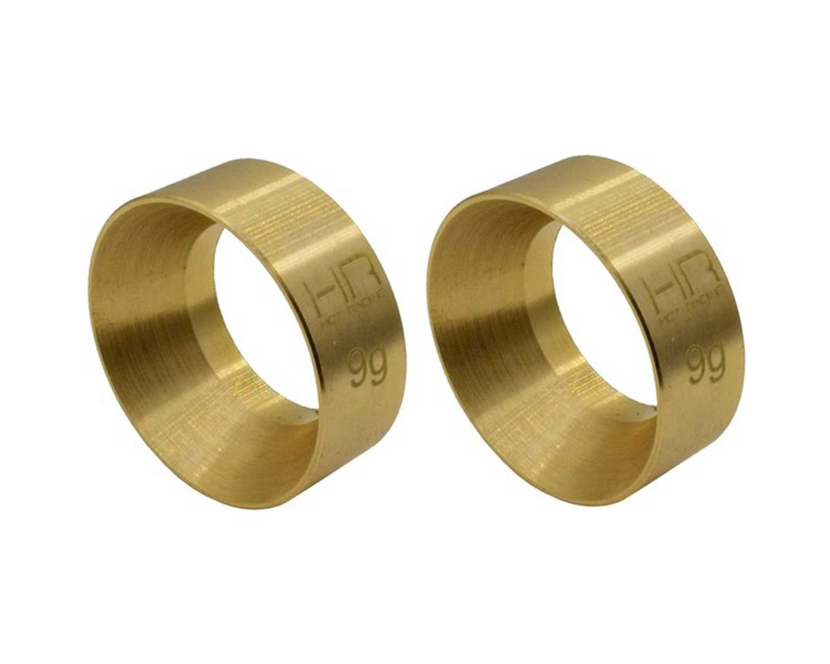 Hot Racing Axial SCX24 Brass KMC Machete Wheel Weights (9g)