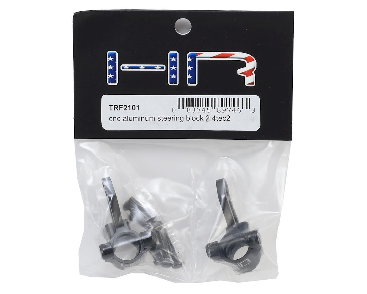 Hot Racing Aluminum 4-Tec 2.0 Steering Block (Black) (2)